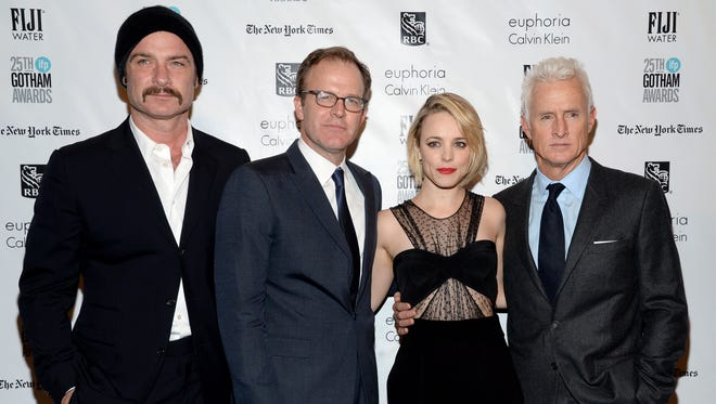 Liev Schreiber (from left), Tom McCarthy, Rachel McAdams and John Slattery attend The Independent Filmmaker Project's 25th annual Gotham Independent Film Awards on Nov. 30, 2015 in New York.