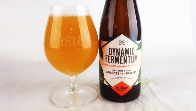"""Ology Brewing Company's first barrel-aged sour release was recently review by craft beer authority Paste Magazine, which called it  """"On the nose and piercing with a very pure peach/apricot character."""""""