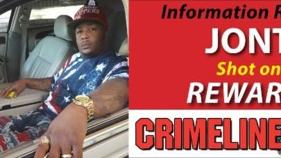 Clear Channel Outdoor billboards are highlighting a homicide case involving Jonte Thomas, who died last month.