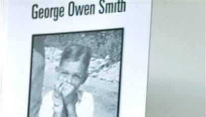 Ovell Krell, sister of George Owen Smith, the first victim positively identified from one of the 55 unmarked graves the former Arthur G. Dozier School for Boys in Marianna, Fla., smiles as she listens during a news conference Thursday at the University of South Florida in Tampa, Fla.  University researchers will exhume Smith's remains and return them to his family. Smith was 14 when he was sent to the school in 1940, and was never seen alive by his family again.