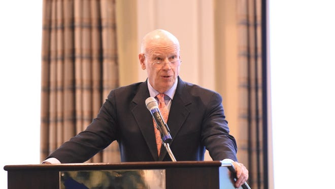 Knight Kiplinger, editor in chief of Kiplinger publications, speaks during the Kiplinger Literacy Award Luncheon on Jan. 23, 2017. The event took place at the Harbour Ridge Yacht and County Club in Palm City.