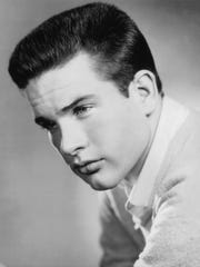 Warren Beatty's first headshot, taken in 1957.