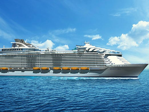 New Royal Caribbean Cruise Ship Will Be Worlds Largest - Biggest cruise ships in history