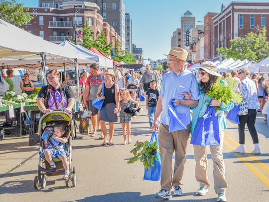 The Saturday Farmers Market in downtown Green Bay features more than 150 vendors, free yoga on the CityDeck and free canvas totes. It opens for the season on May 25.