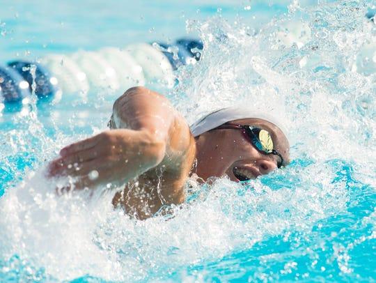 Vero Beach's Elizabeth Richardson swims the 100-yard