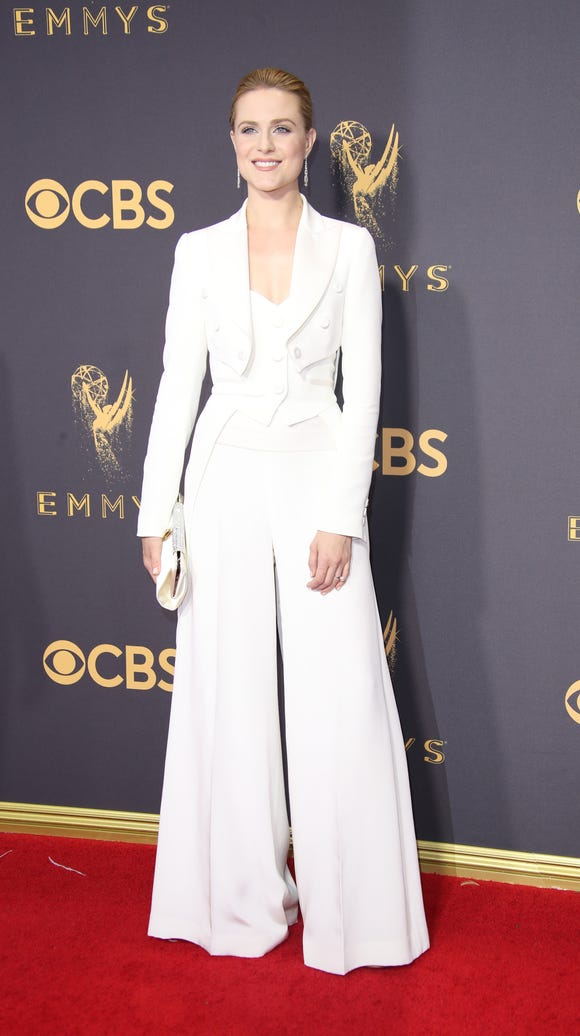 Evan Rachel Wood in a tux with a twist.