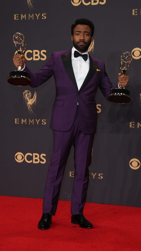 Donald Glover having a purple reign moment.