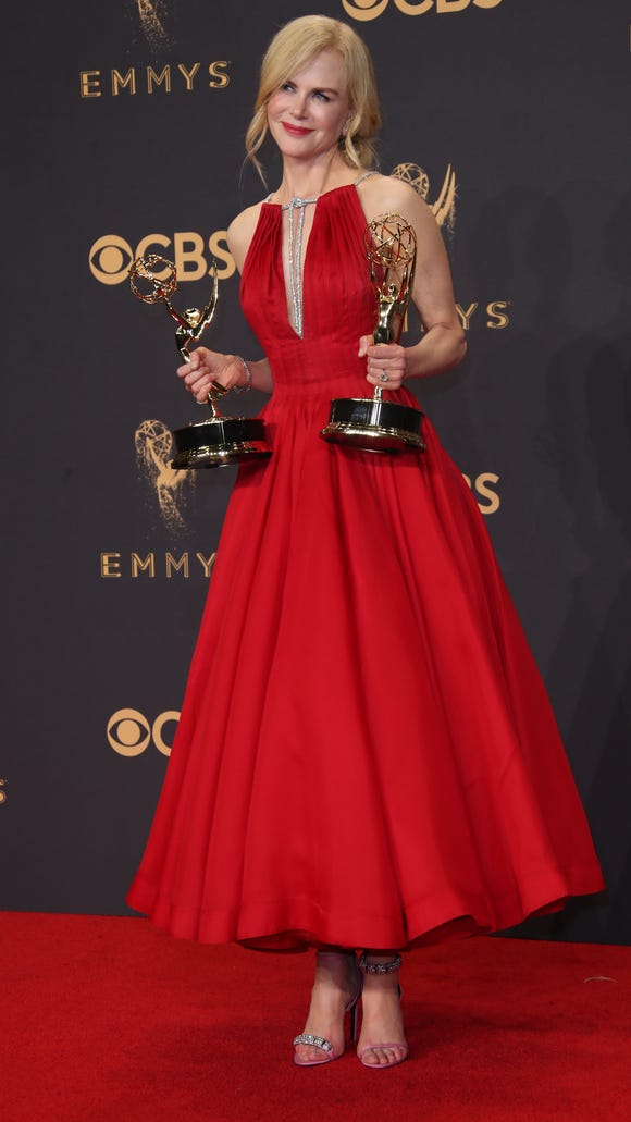 Nicole Kidman wore pink Calvin Klein shoes to the Emmys