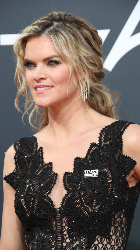 Missi Pyle arrives for the 75th Golden Globe Awards