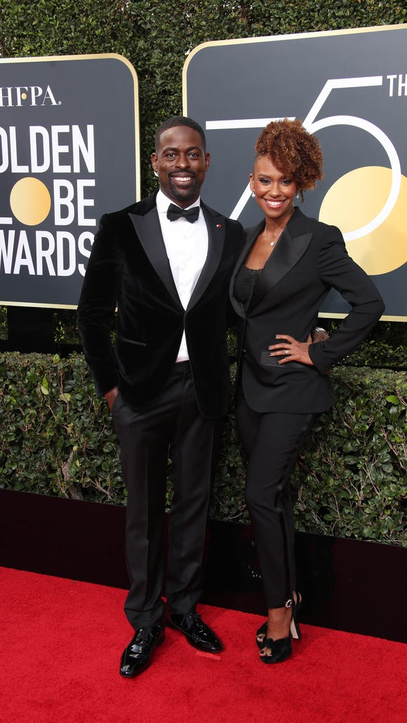 'This Is Us' nominee Sterling K. Brown and his wife,