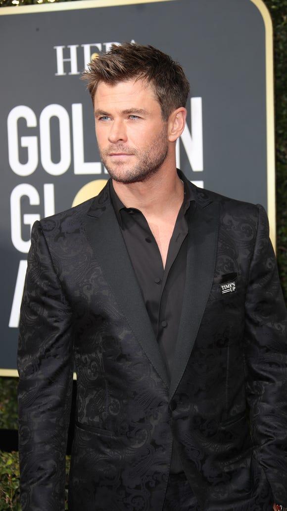 Jan 7, 2018; Beverly Hills, CA, USA;  Chris Hemsworth