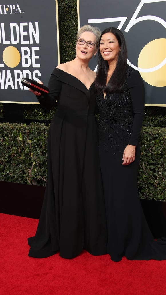 Meryl Streep, who was up for a Golden Globe at Sunday's