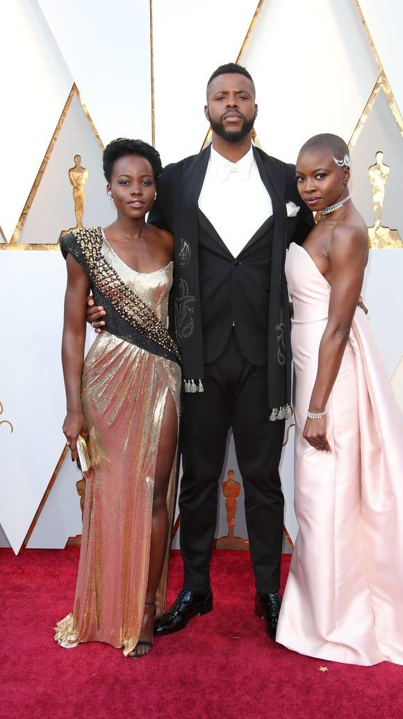'Black Panther' cast members, Lupita Nyong'o, Winston