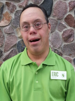 Eric Edwards, who has Down syndrome, has been a fixture at Copps in Appleton for 25 years.