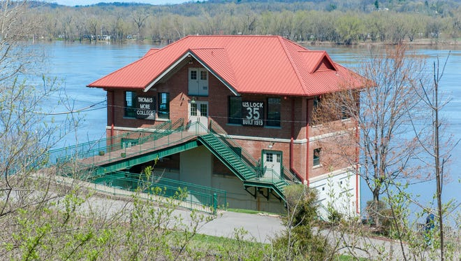 The Thomas More College Field Station on the Ohio River continuously monitors river and weather conditions every 10 minutes.