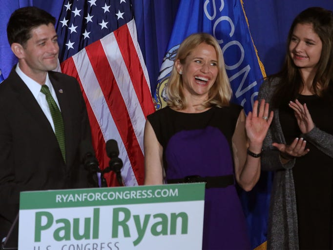 Paul Ryan thanks his wife Janna for her support as