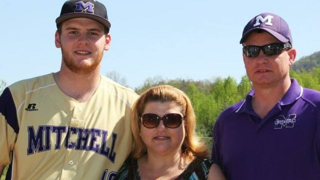 Mitchell graduate Dylan Forbes is a freshman pitcher at Winston-Salem State.