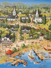 """Our Village,"" painting by Ellen Topelmann."