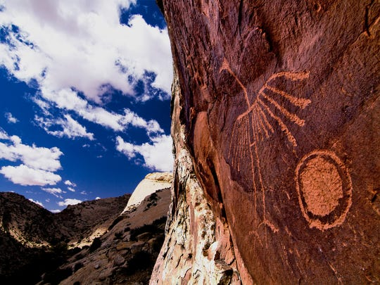 A petroglyph of a crane is pictured in the Bears Ears region of southeast Utah in this undated courtesy image.
