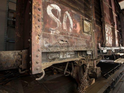 A World War II German railroad car at an undisclosed