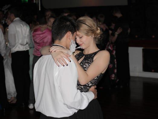 Students dance at Waynesboro Area Senior High School's