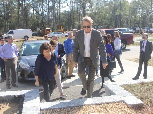 City Commissioners and officials were given a tour