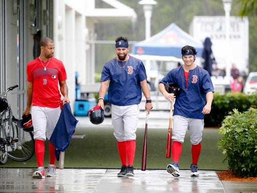 Ft. Myers, Fla.: Red Sox left fielder Chris Young,