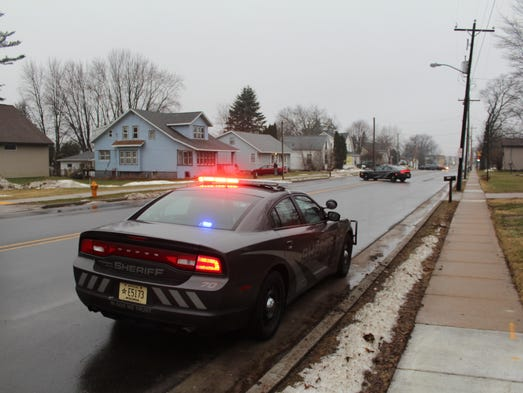 Police responded to a report of a gunshot during a