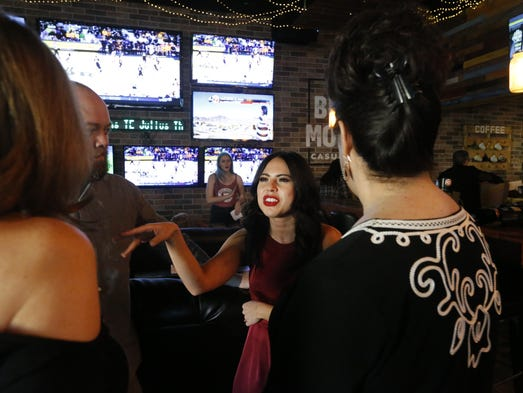 El Pasoans gather Monday evening at a viewing party