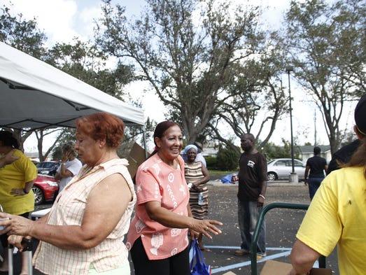 Gregoria Gutierrez, 68, smiles as a member of The Church