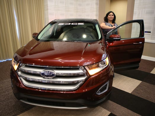 Cristina Aquino of Ford Motor Company poses with the