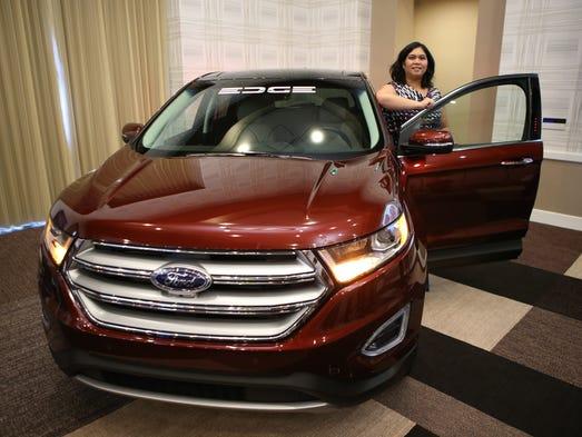 Cristina Aquino of Ford Motor Company poses with the