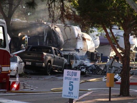 A Small Airplane Crashed Into The Rivers Edge RV Park