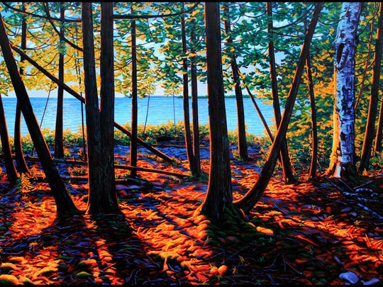 """Early Evening Backlight,"" painting by Terry Walsh, who is exhibiting his work at Fine Line Designs Gallery in Ephraim."