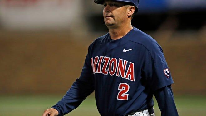 Arizona coach Jay Johnson and his Wildcats won the Pac-12 baseball championship and await their NCAA baseball fate on Monday.