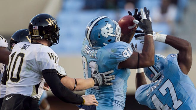 North Carolina and Wake Forest, shown here in an ACC game in 2011, will be facing off in non-conference action.