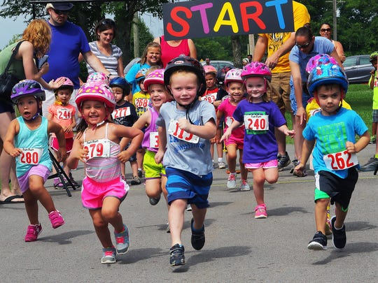 Children participate in the Murfreesboro Parks and Recreation's annual Small Fry Tri, an event geared toward promoting healthy living for youth.