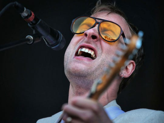 John Joseph McCauley with the band Deer Tick performs on the River Stage during the 41st Memphis in May Beale St. Music Festival at Tom Lee Park.