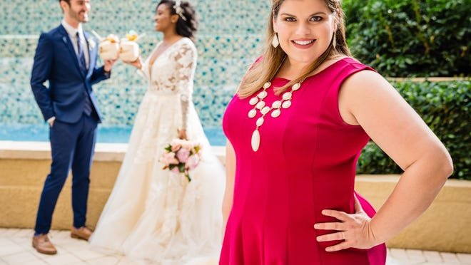 Stefany Allongo, Founder of MarriedinPalmBeach.com during wedding photo shoot at the Marriott on Singer Island.