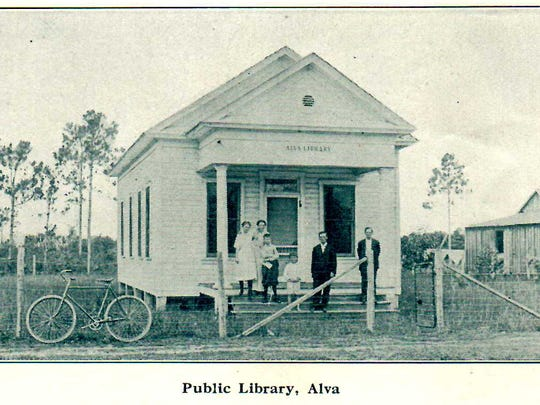 Built in 1909, Alva's library was the first in what's now Lee County.