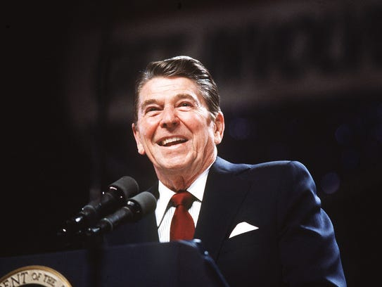 Ronald Reagan in a 1983 file photo
