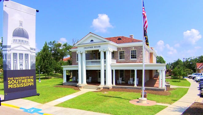 The Ogletree House on the Hattiesburg campus of the University of Southern Mississippi suffered extensive damage from the Feb. 10, 2013, tornado, but has since been beautifully restored.