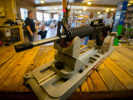 The AR-15 rifle raffled off by coyote hunting club