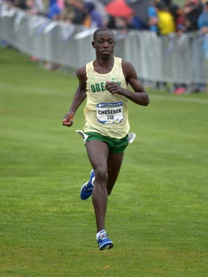 Oregon's Edward Cheserek repeat as Pac-12 men's cross country champion Friday.