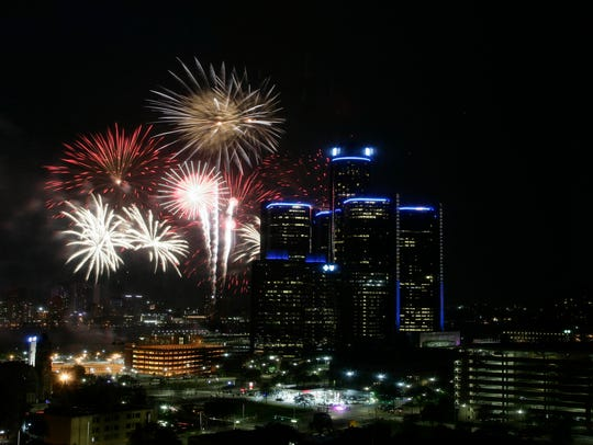 The 2017 Ford Fireworks happened on the Detroit River