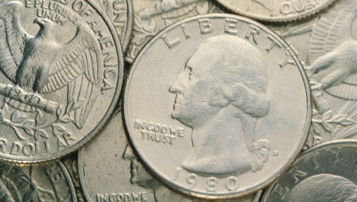 A Harpersville man stole $196,000 worth of quarters last year.