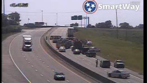 A semi truck reportedly hit a motorcyclist about 9:40 a.m. Saturday, June 3, 2017 on Briley Parkway at Dickerson Pike in Nashville.