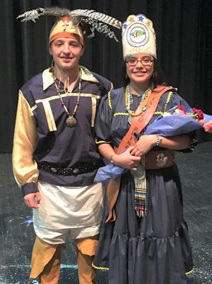 The newly crowned Native Heritage Princess at Ruidoso High School is sophomore Angel Blake and the Warrior is junior Mark Graves. They will represent RHS for one year and were crowned during the annual Heritage Month Pageant on Nov. 16.