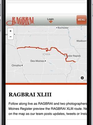 RAGBRAI tracker