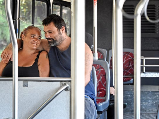 Nicole Brown and Billy Billy Biggs take the bus out